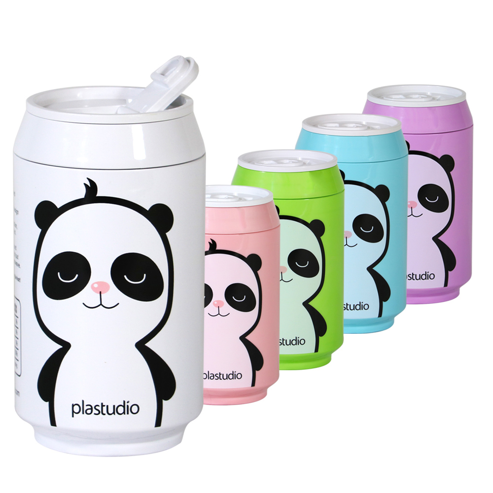plastudio|玉米材質環保杯-Eco Can-280ml-粉紅色-熊貓Panda 限定版