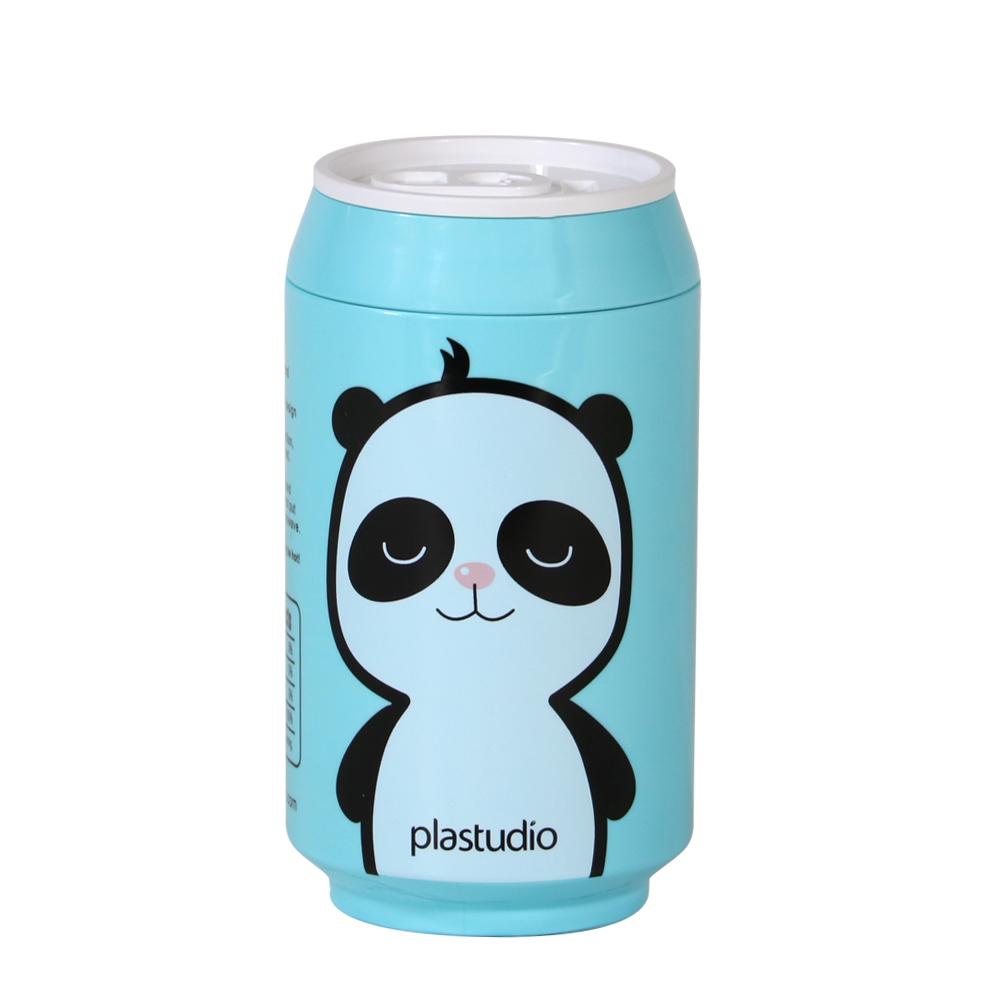 plastudio|玉米材質環保杯-Eco Can-280ml-天藍色-熊貓Panda 限定版