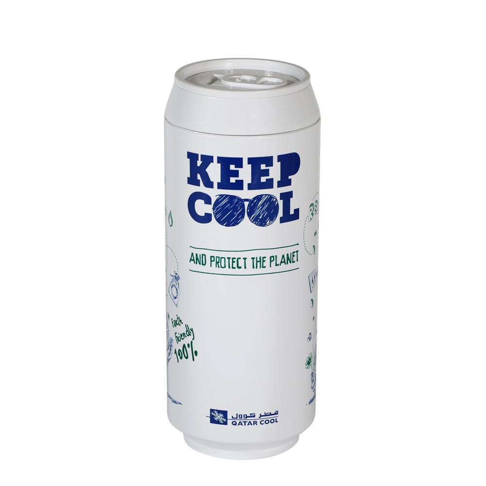 plastudio 玉米材質環保杯-Eco Can-Keep Cool-420ml-白色-生物可分解材料