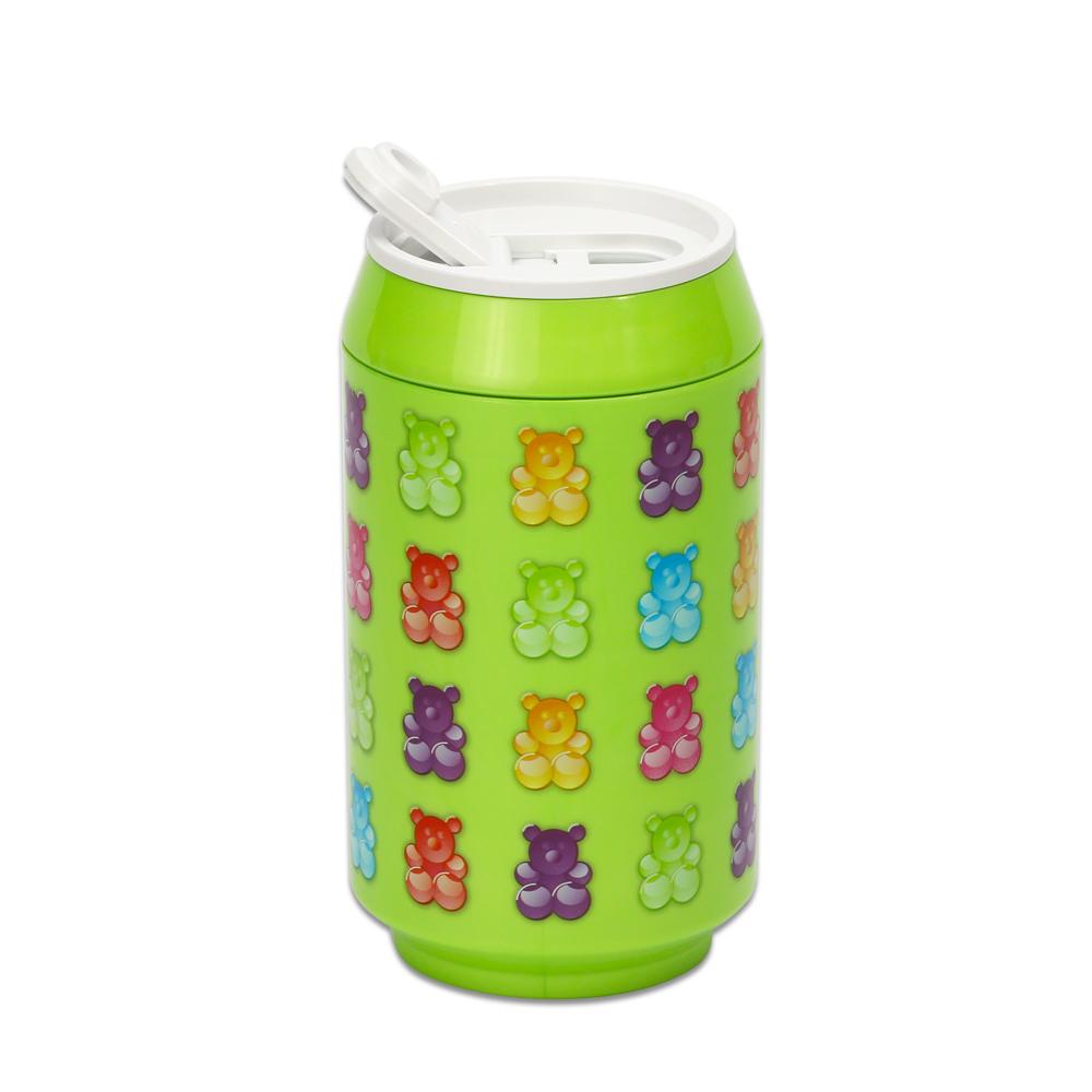 plastudio|玉米材質環保杯-Eco Can-280-軟糖熊-綠色