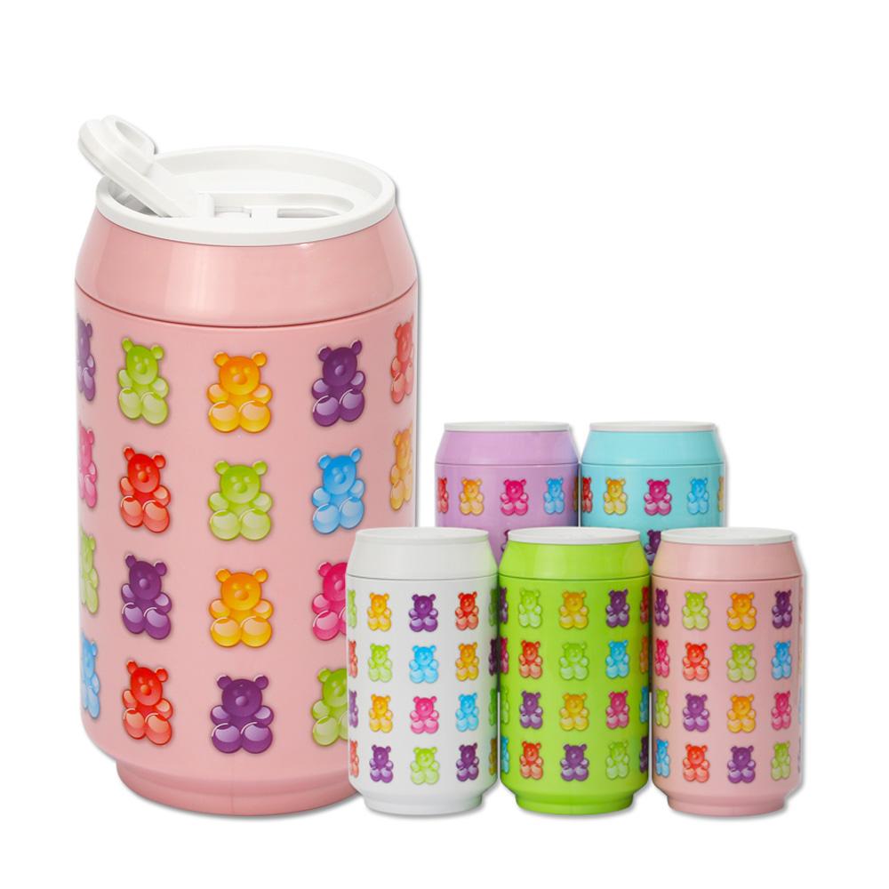 plastudio|玉米材質環保杯-Eco Can-280-軟糖熊-粉紅