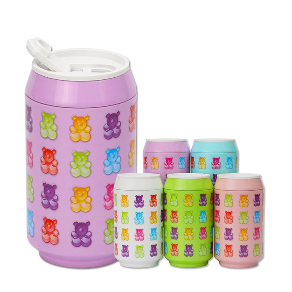 plastudio|玉米材質環保杯-Eco Can-280-軟糖熊-紫色