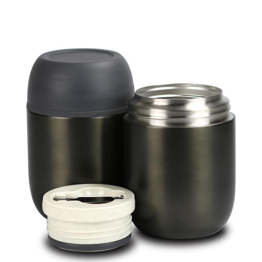 plastudio Jaro不鏽鋼真空保溫保冷悶燒杯-黑色