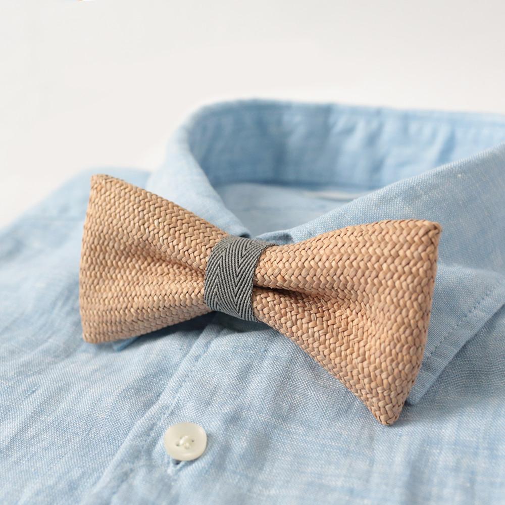 A.M IDEAS 藺結 Rush Grass Bow Tie(灰)