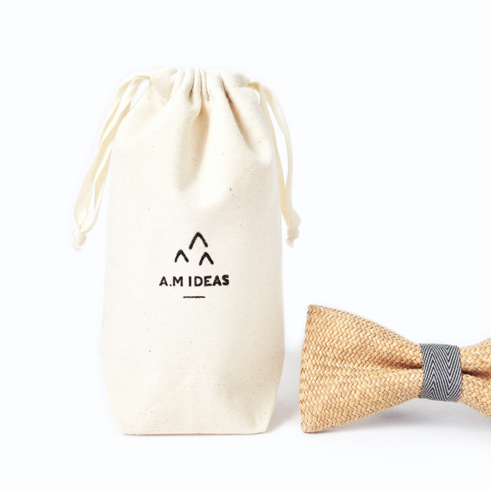 A.M IDEAS|藺結 Rush Grass Bow Tie(灰)