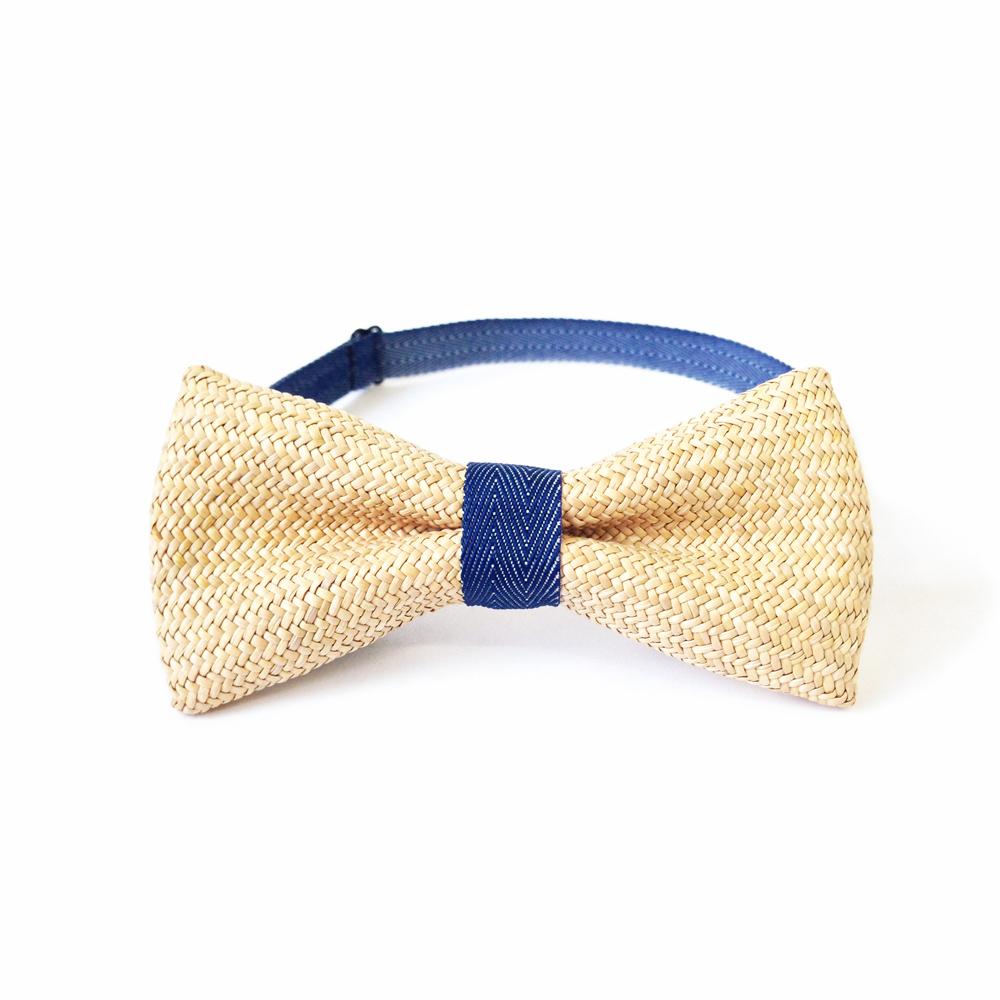 A.M IDEAS|藺結 Rush Grass Bow Tie(藍)