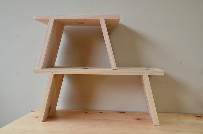 一郎木創|日檜八字凳45cm(2張) 椅凳 壁櫃