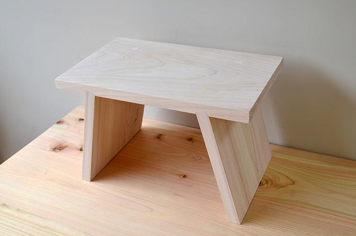 (複製)一郎木創|日檜八字凳45cm(2張) 椅凳 壁櫃