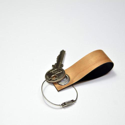 一郎木創 木革鑰匙圈(櫻桃木、胡桃木各1入)