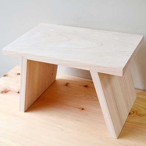 一郎木創|日檜八字凳30cm 椅凳 壁櫃