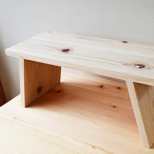 一郎木創|日檜八字凳30cm(2張) 椅凳 壁櫃