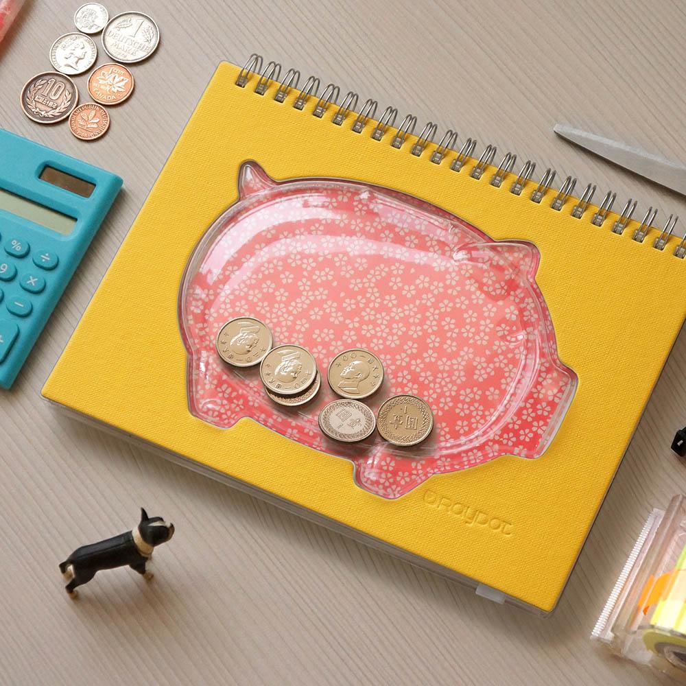 RayDot|小豬撲滿筆記本(黃)