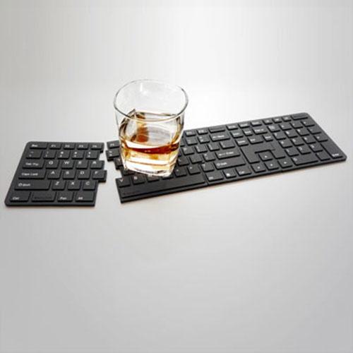 RayDot 鍵盤杯墊-4片組(黑)