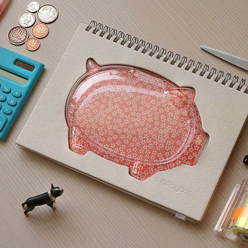 RayDot 小豬撲滿筆記本(白)