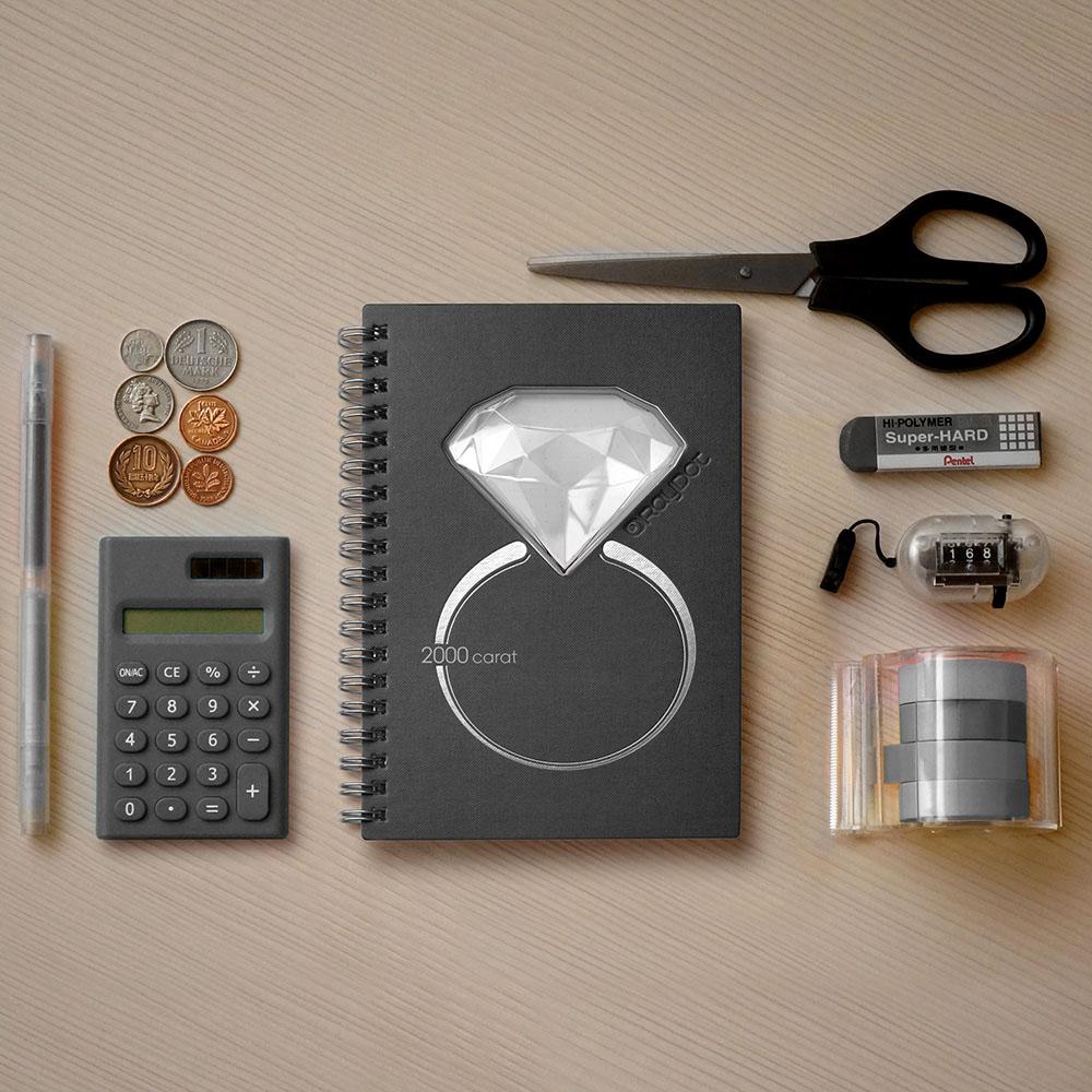 RayDot   鑽石筆記本 (黑曜灰)