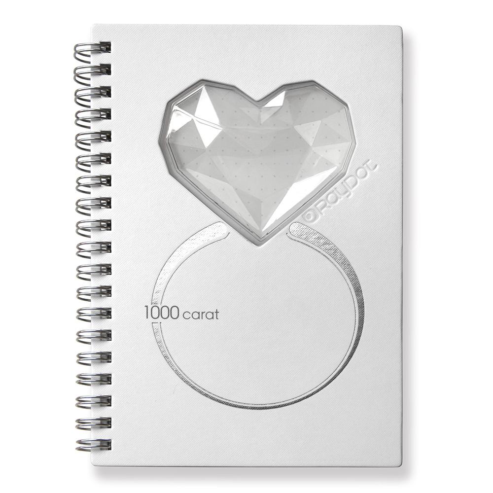RayDot | 鑽石筆記本 ( 珍珠白)