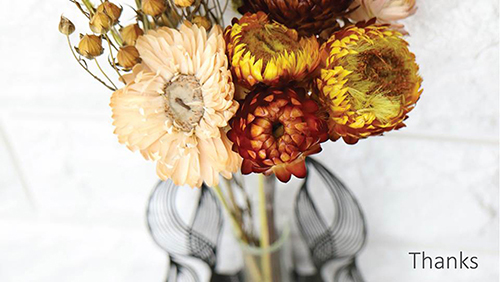 葉朵花器 協奏曲金色