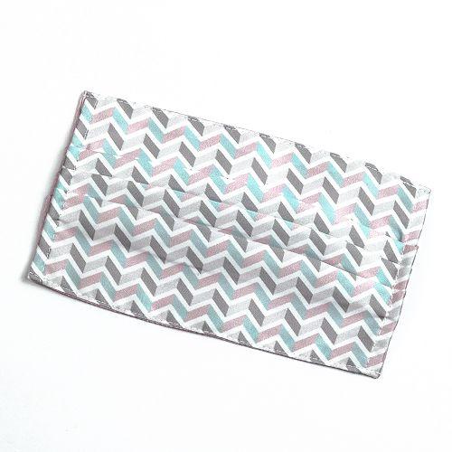 yeduo|防潑水口罩套 –粉藍撞色款
