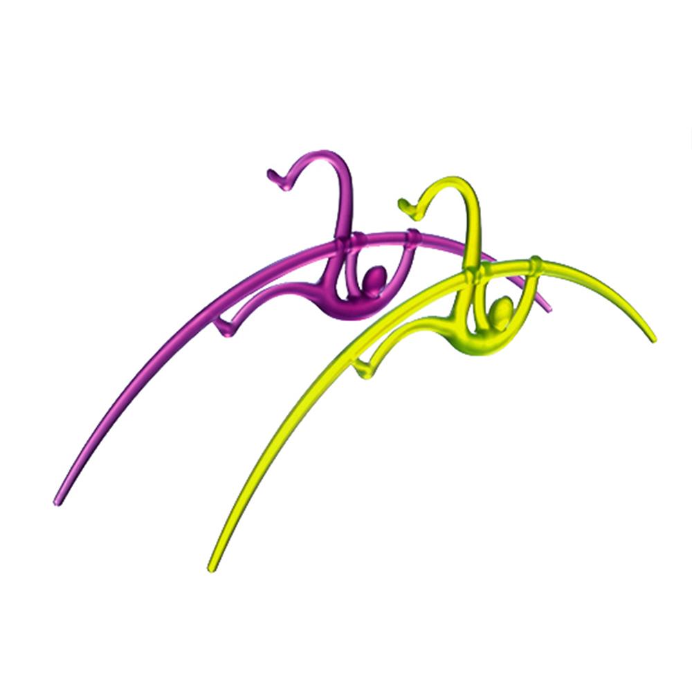 yeduo|運動造型衣架-撐竿跳(紫+綠)