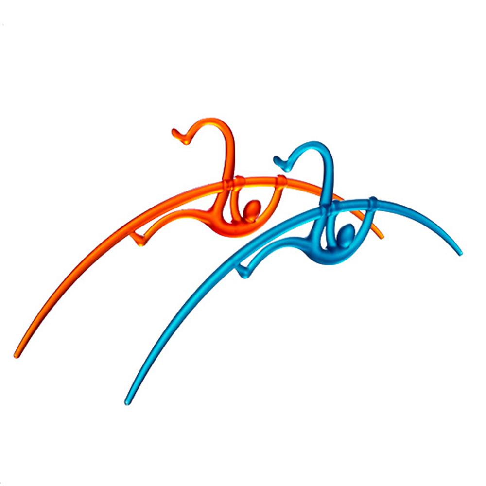 yeduo|運動造型衣架-撐竿跳(橘+藍)
