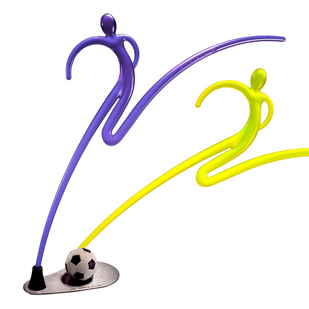 yeduo|運動造型衣架-足球(黃+藍)