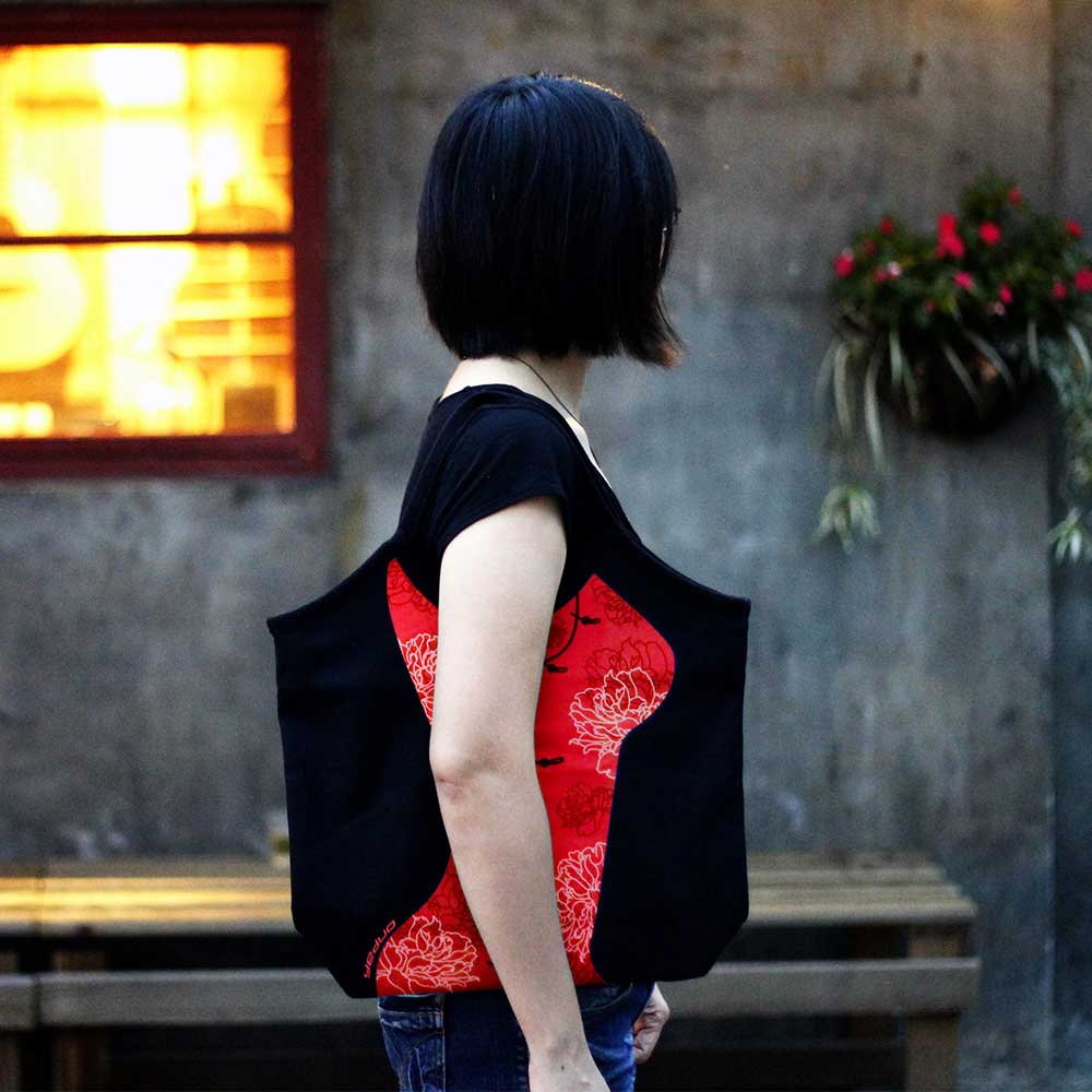 yeduo|窈窕曲線包-旗袍版(紅/灰)