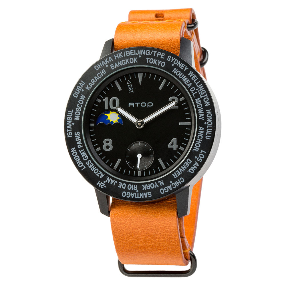 ATOP 世界時區腕錶 - AWA-11-L06 黑色
