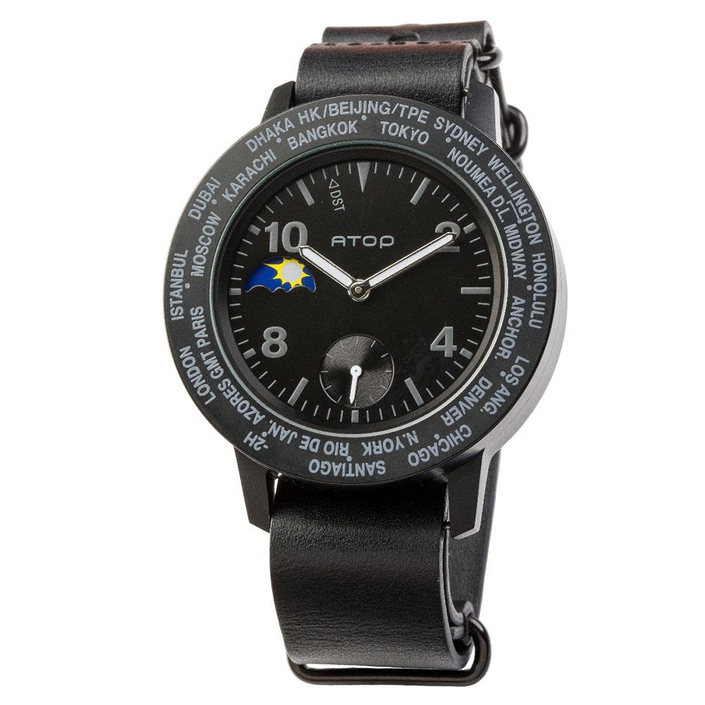 ATOP 世界時區腕錶 - AWA-11-L01 黑色