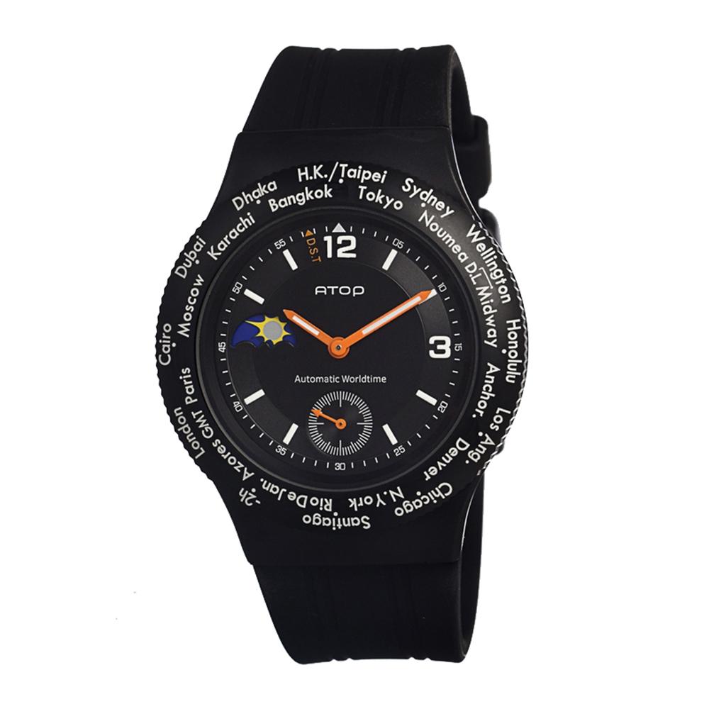 ATOP|世界時區腕錶-24時區運動系列(黑色)