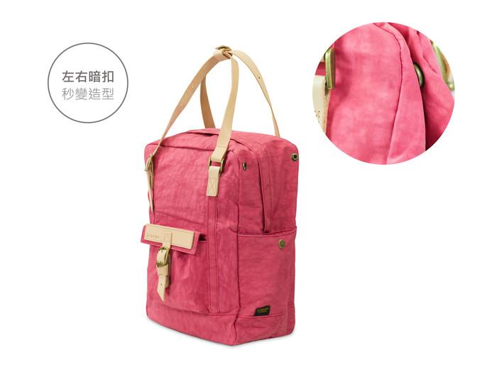 DYDASH|3way3用手提/肩背/後背包/媽媽包-大粉紅星球