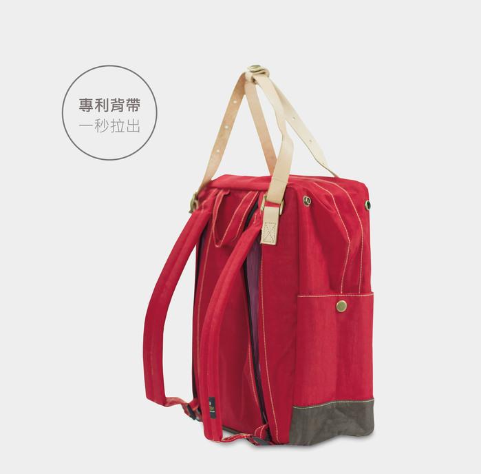 DYDASH|3way3用手提/肩背/後背包/媽媽包-大草莓跳格子