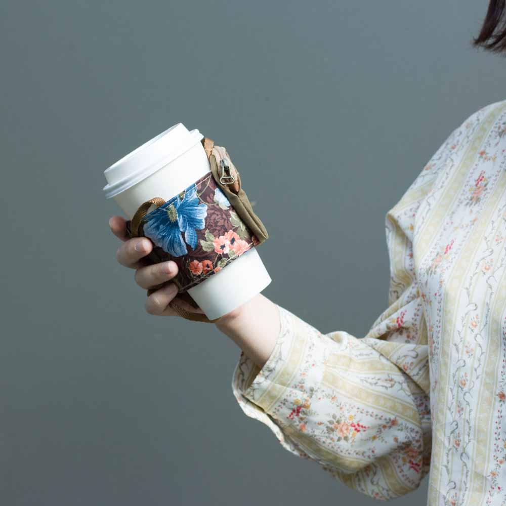 DYDASH 減塑/環保/飲料提袋-PICUP杯卡(棕花)