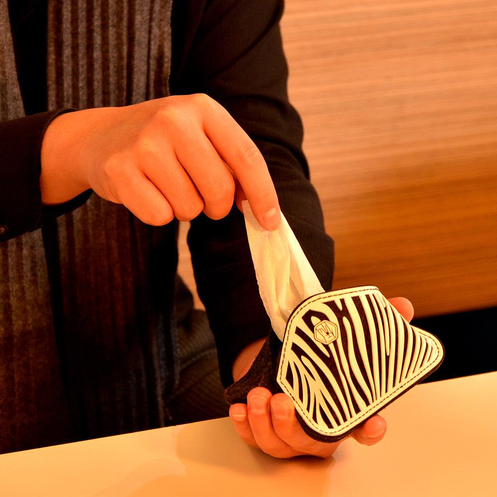 俬品創意|悠.面紙套 Tissue Holder-斑馬紋(白色)