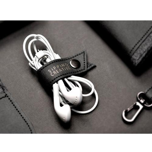 俬品創意 耳機收納夾/捲線器(雙色一組)
