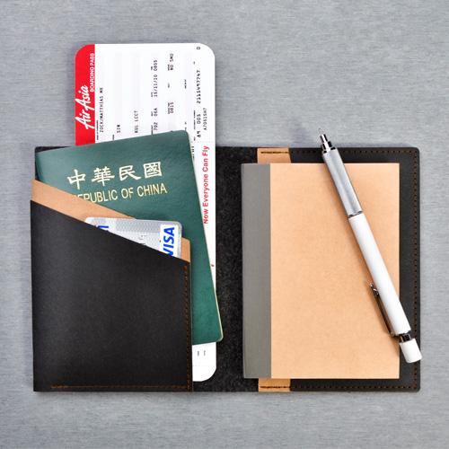 俬品創意|護照夾(極簡黑)