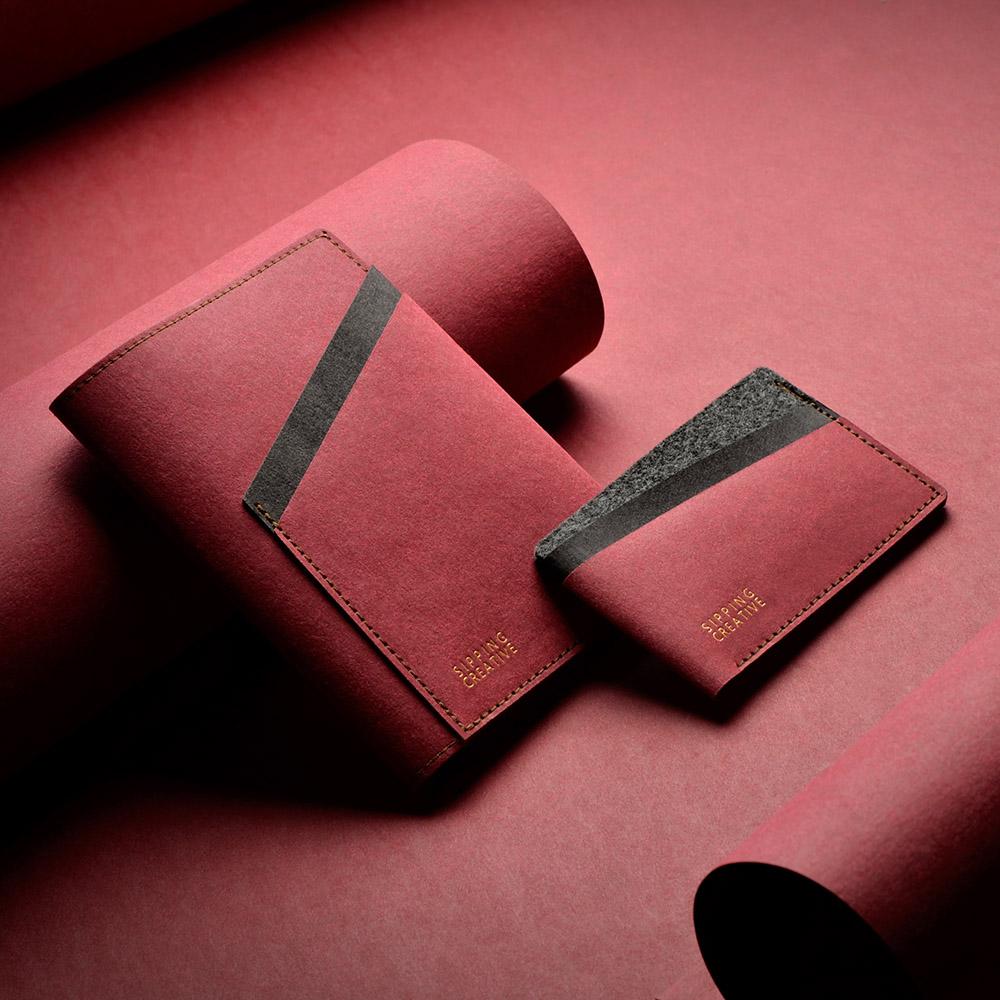 俬品創意|信用卡夾(醇酒紅)