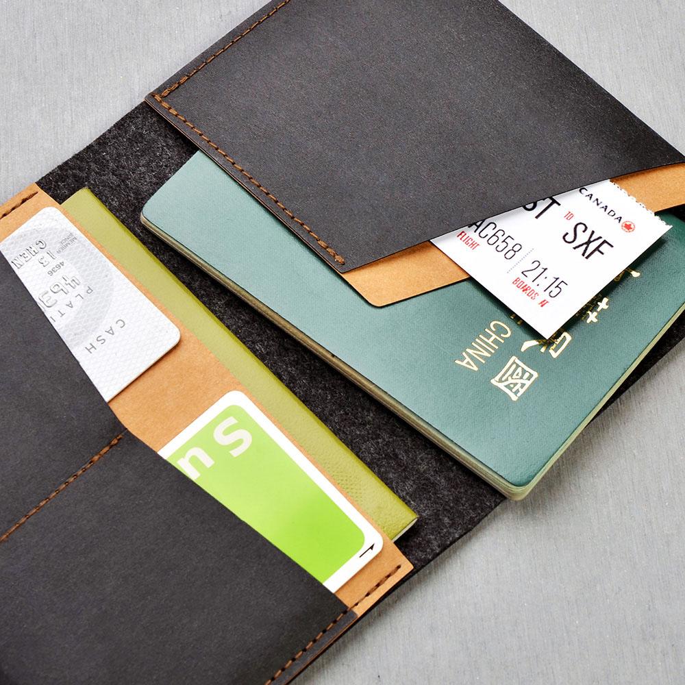 俬品創意|護照夾(醇酒紅)