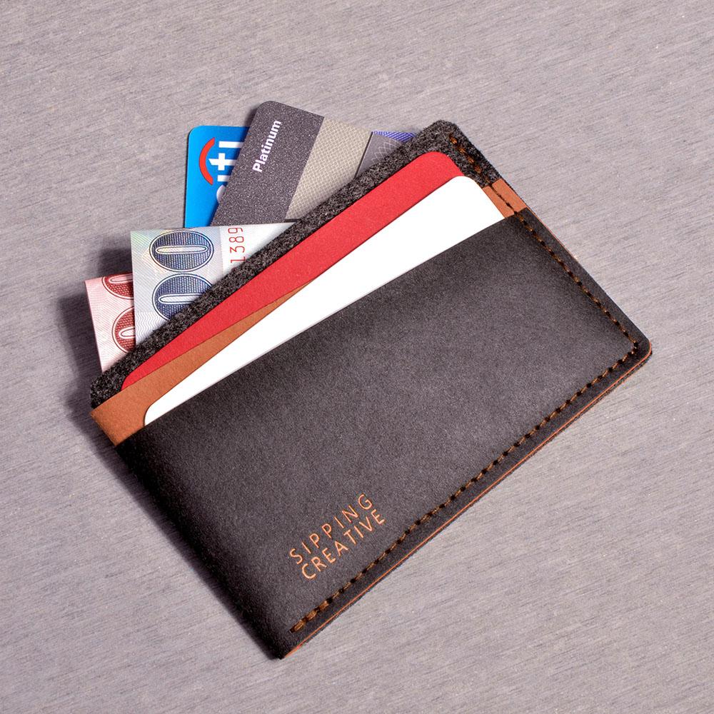 俬品創意|信用卡夾(咖啡黑)