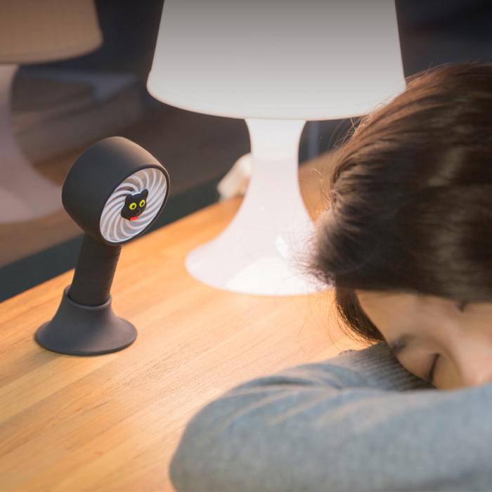 Bone | 頸掛桌立兩用風扇 手持風扇 USB頸掛雙用風扇-企鵝小丸
