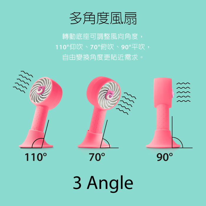 (複製)Bone | 手持 頸掛 桌立 USB 三用風扇 - 企鵝小丸