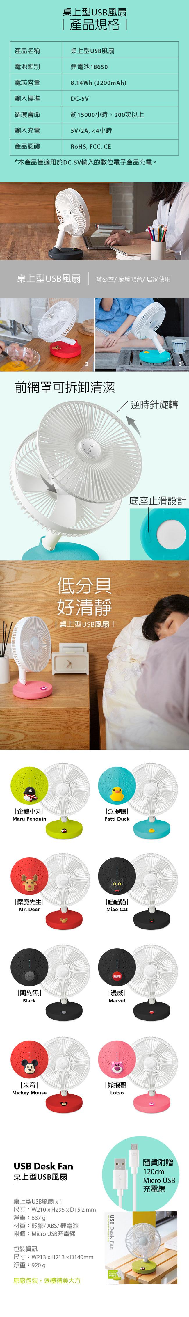 Bone|桌上型USB風扇 / USB Desk Fan - 米奇