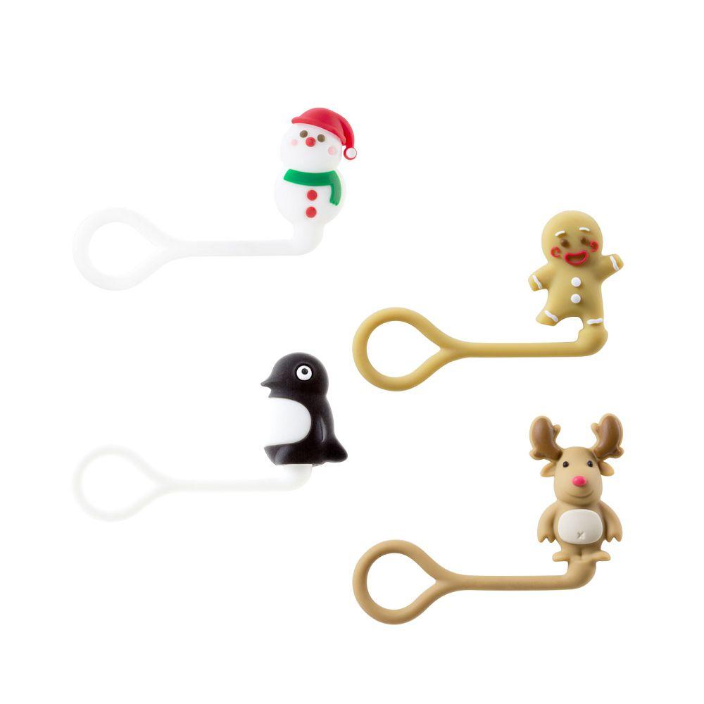 Bone|聖誕造型公仔Q束繩 捲線器 線材收納