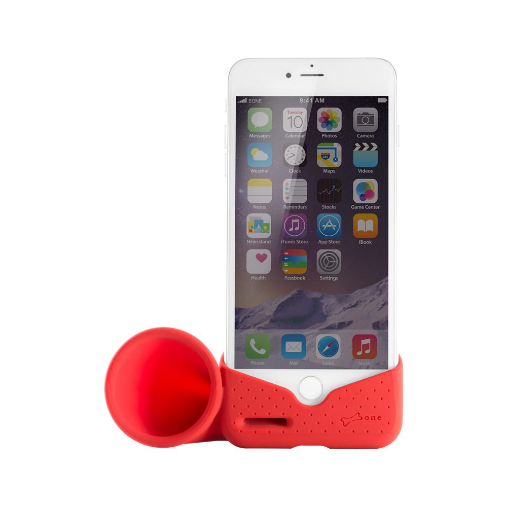 Bone Horn Stand / iPhone 8 Plus / 7 Plus 號角揚聲器 - 紅色