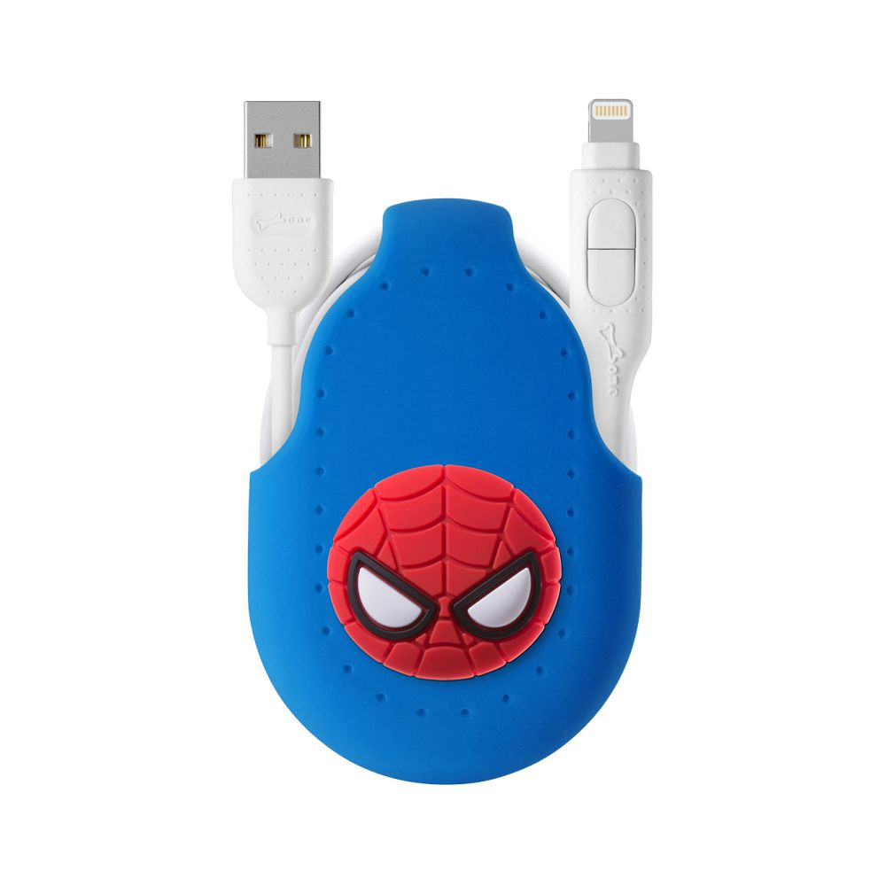 Bone 二合一雙頭傳輸線(適用各型號手機) - 蜘蛛人