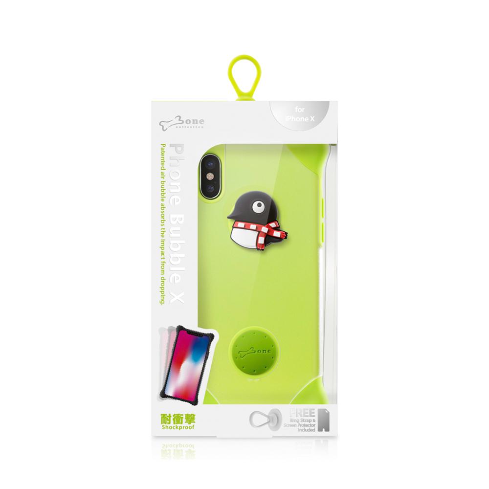 Bone|iPhone X 泡泡保護套 - 企鵝