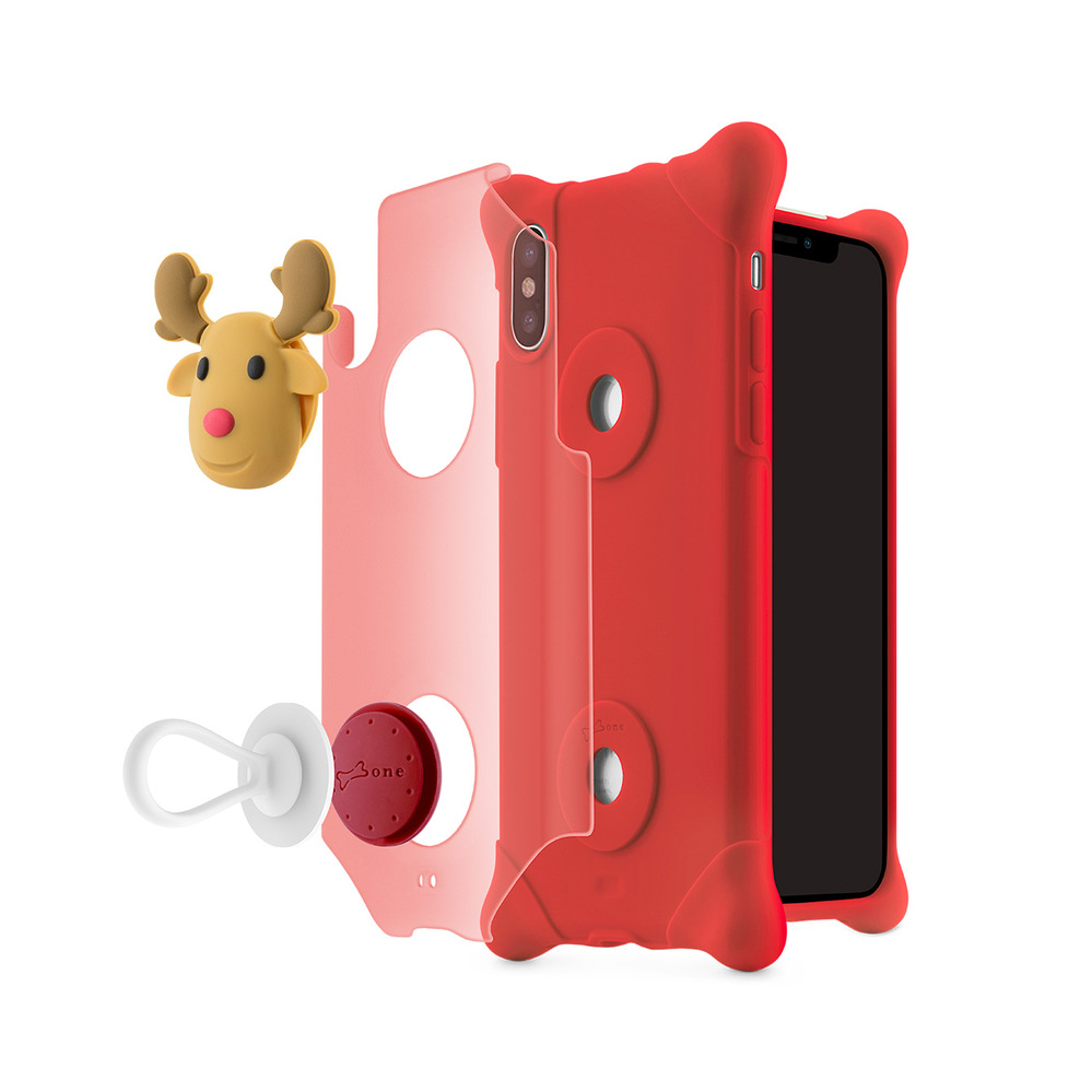 Bone iPhone X 泡泡保護套 - 麋鹿