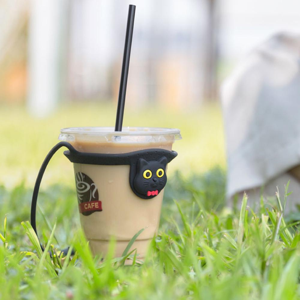 Bone | Cup Tie 環保矽膠飲料杯綁 - 貓咪
