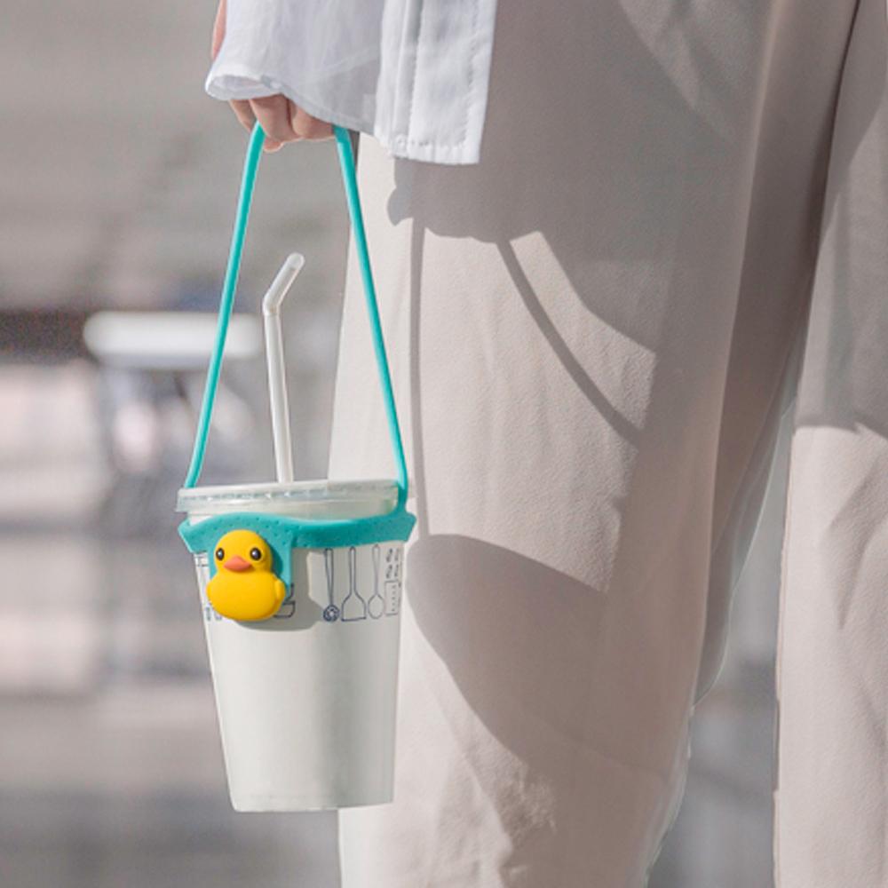 Bone   Cup Tie 環保矽膠飲料杯綁 - 小鴨
