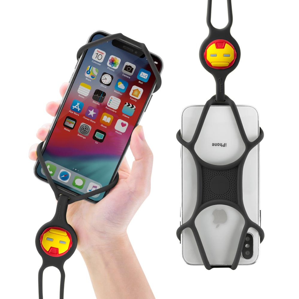 Bone|PhoneTie 輕鬆走 頸掛手機綁 漫威官方授權 - 鋼鐵人