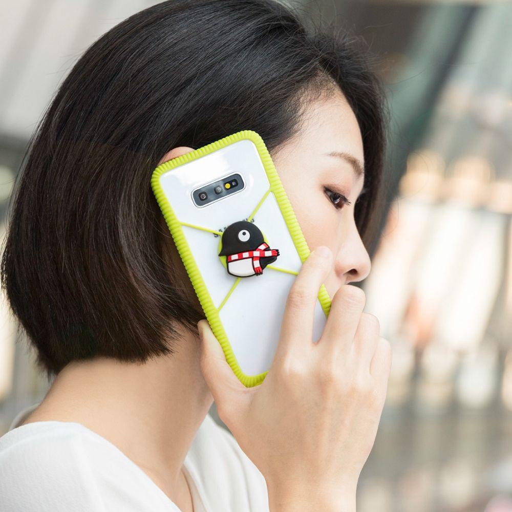Bone Phone RingTie 通用防滑環形手機綁 - 企鵝小丸